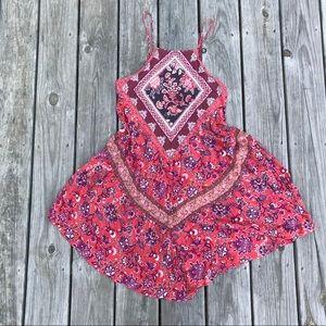 AEO printed boho halter dress